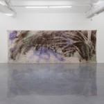 Sea Painting, Les Orpellières, 2012, pigment, canvas, installation view, Marcher dans la couleur, 2012, regional contemporary art museum, Sérignan
