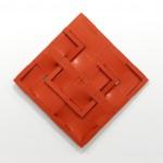 Snake in a basket, 2011, acrylic, canvas, wood 98cm x 98cm