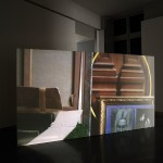 A l'étage, 2011, super 16mm transfer to HD, installation view, A l'étage, 2011, Maison d'art Bernard Anthonioz, curated by Raimundas Malašauskas