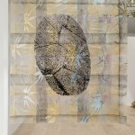 Camilla Wills - Untitled (diptych) - 2015 - (part 2) Aerosol and silk-screen print on plastic - 138 x 119 cm