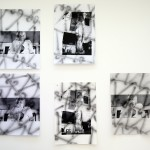 Inhalation wall - 2015 - 5 parts - Aerosol and screen-print on paper - each one: 110 x 75 cm