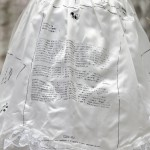 Press release (detail) - 2015 - Printed wedding dress, bag, hay - Dimensions variable