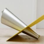 Hinge Bow, 2015, Steel, wood, acrylic paint, 94 x 157 x 122 cm