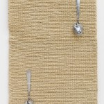 Goods and Chattels (detail), 2015, Rug, steel spoons, 180 x 120 cm