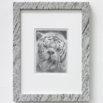 Claque & Shill (Kenny), 2011, Graphite on paper, granite, 36 x 46 x 4 cm