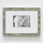 Claque & Shill (Kenny), 2011, Graphite on paper, granite, 48 x 36 x 4 cm