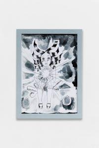 Inner light, 2018, Ink on paper, framed, 33 × 24 cm