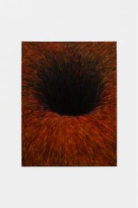 Gat 's Avonds, 2020, oil stick, wax pastel on paper, 78 x 60 cm