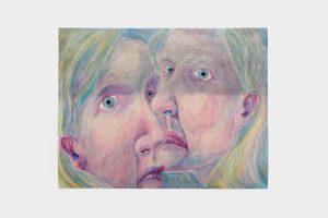 Les Curatrices, 2020, oil pastel on paper, 50 x 65 cm