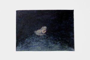 Flappie, 2020, oil stick, oil pastel, wax pastel on paper, 30 × 42 cm